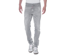 Destroyed Slim-Fit-Jeans  // Cool Guy Grey