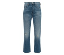 High-Rise Ankle Slim-Jeans
