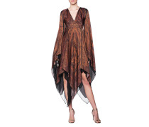 Gemustertes Seidenkleid  // Silk Hippie Brown
