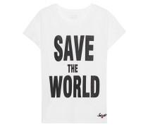Baumwoll-T-Shirt mit Print  // Vogue Special White