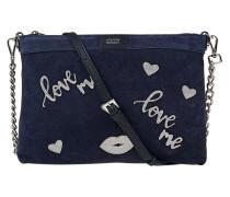 Leder-Tasche mit Love-Patches