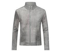 Leder-Jacke im Washed-Out-Look