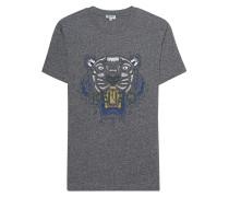 Baumwoll-T-Shirt mit Print  // Tiger Anthracite