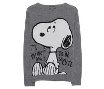 Woll-Kaschmir-Feinstrickpullover  // Snoopy Shark Skin Grey