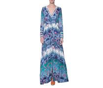 Gemustertes Kleid mit Spitzeneinsatz