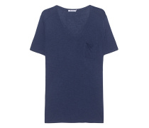 Viskose-T-Shirt mit Brusttasche  // Classic Pocket Navy