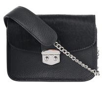 Leder-Umhängetasche mit Fell-Besatz  // Midtown Mini Bag IV Black