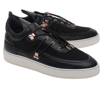 Leder-Sneakers mit Mesh-Details  // Low Top Keiko Black