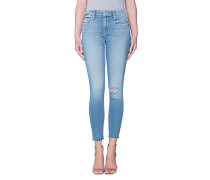 Destroyed Skinny-Jeans  // The Looker Ankle Fray Love Gun
