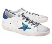 Flache Leder-Sneaker  // Superstar White