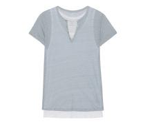 Leinen-T-Shirt  // Double Layer Ciel Poudre Blanc