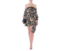 Florales Off-Shoulder-Minikleid  // Luciana Strapless Black Floral