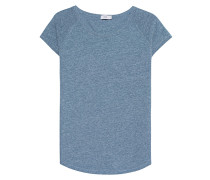 Baumwoll-Mix T-Shirt  // Top Blue