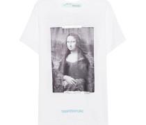 Baumwoll-T-Shirt mit Print  // Tee Mona Lisa White