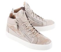 Sneaker mit Samt-Details  // May London Veronica Perla Beige
