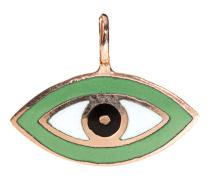 18 Karat Roségold-Anhänger  // Evil Eye Lime Green