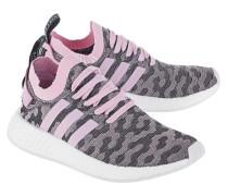 Flache Textil-Sneakers  // NMD R2 Primeknit Wonder Pink