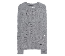 Alpaka-Woll-Pullover im Destroyed-Look  // Super Destroy Grey