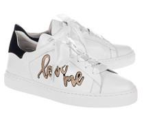 Flache Ledersneaker  // 27 Love Street White