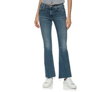 Washed-Out Flare-Leg Jeans