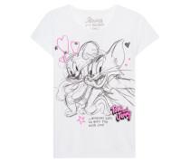 T-Shirt mit Pailletten-Stickerei