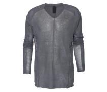 Leinen-Mix Pullover  // Fine V Grey