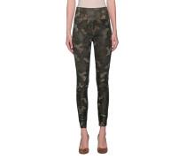 Leder-Leggings im Camouflage-Design