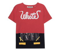 White Patchwork Tee All Over Red