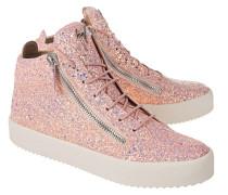 Sneaker mit Glitzer-Beschichtung  // May London Matt Glitt Barbie Rose