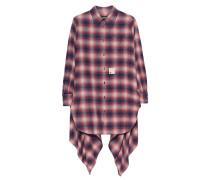 Karo-Baumwoll-Bluse  // Long Check Red Multi