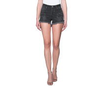 Destroyed High-Waist-Shorts  // Juliettes Black Anchor