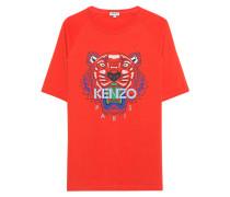 Baumwoll-T-Shirt mit Label-Logo