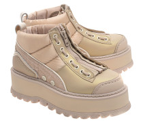 Plateau-Sneakers mit Zipper  // Boot Zip Semolina Smoke