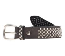Ledergürtel mit Nieten  // Vintage Stud Anthracite