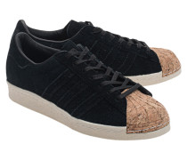 Leder-Sneakers mit Kork-Spitze  // Superstar 80S Cork