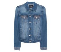 Jeansjacke mit Schmuckstein-Verzierung