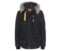 Daunen-Parka mit Fell-Besatz  // Right Hand Black