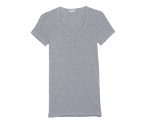 Schmales Jersey-T-Shirt  // One And One Scoop Heather Grey