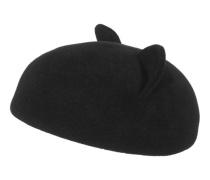 Filz-Baskenmütze mit Katzenohren  // Caterina Black