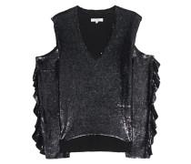 Pailletten-Bluse mit Cut-Outs  // Cut Out Pailletten Black