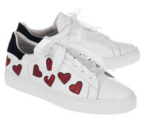 Sneaker mit Herzen  // 37 Love Street White