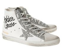 High-Top Sneaker mit Glitzer-Details