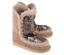Schafsleder Stiefel  // Sequins on Camel