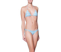 Gemusterter Triangel-Bikini  // Hamptons Mint