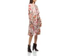 Florales Kleid mit Bindegürtel
