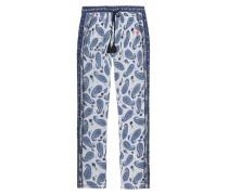 Gemusterte Hose  // Pants Paisley Blue