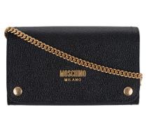 Clutch aus geprägtem Leder  // Classic Gold Chain Black