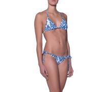 Gemusterter Triangel-Bikini  // Cancun Ikat Blue