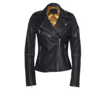 Leder-Jacke im Vintage-Look