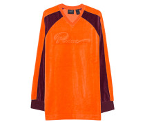 Oversized-Samt-Sweatshirt  // Velour Oversized Orange